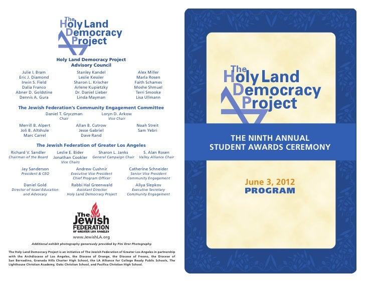 Holy Land Democracy Project                                     Advisory Council      Julie I. Bram                       ...