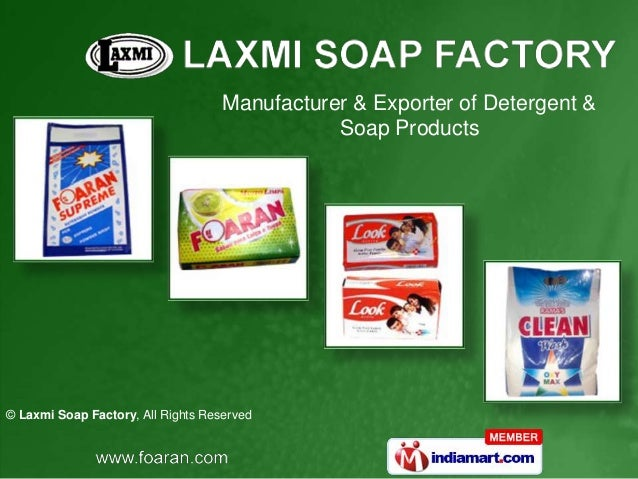 Manufacturer & Exporter of Detergent & Soap Products  © Laxmi Soap Factory, All Rights Reserved