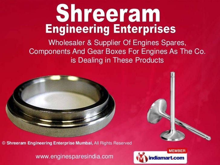 Wholesaler & Supplier Of Engines Spares,            Components And Gear Boxes For Engines As The Co.                      ...