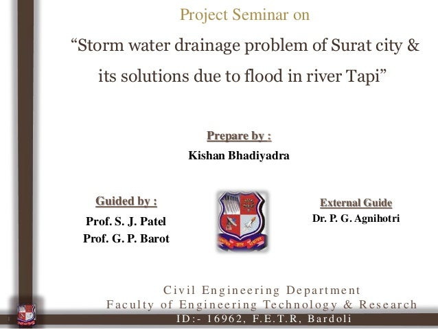 Storm water drainage problem of Surat city & its solutions