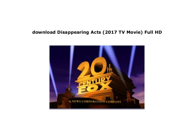 watch disappearing acts full movie online free