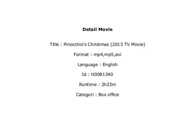 watch Pinocchio's Christmas (2013 TV Movie) Full'M o v i e