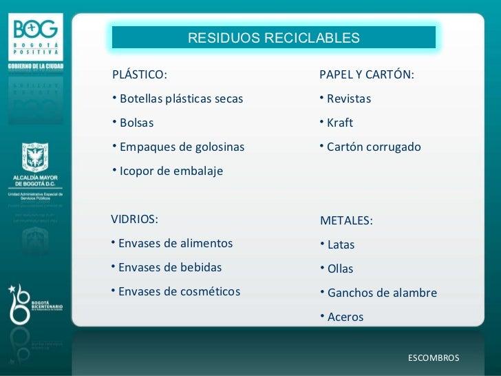 Programa distrital de reciclaje uaesp - Bolsas para escombros ...