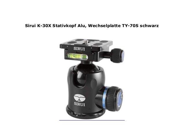 Alu, Wechselplatte TY-70S schwarz Sirui K-30X Stativkopf