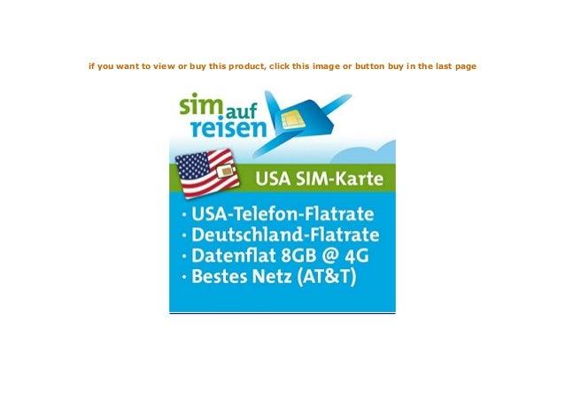 Usa Prepaid Reise Sim Karte Im Atampt Netz Mit Telefon Und Internetf