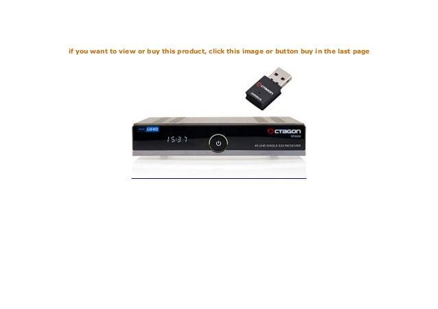 OCTAGON SF8008 4K UHD E2 DVB S2X Single WLAN Open ATV