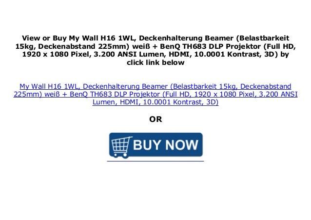 wei/ß My Wall H16-1WL Belastbarkeit 15kg, Deckenabstand: 225mm Deckenhalterung Beamer