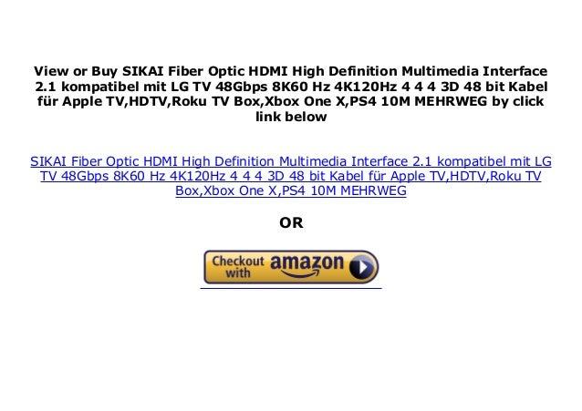 SIKAI Fiber Optic HDMI High Definition Multimedia Interface 2 1 kompa…