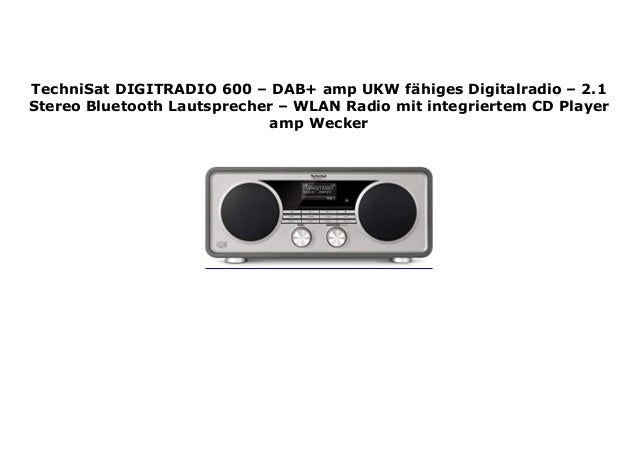TechniSat DIGITRADIO 7   DAB+ amp UKW f higes Digitalradio