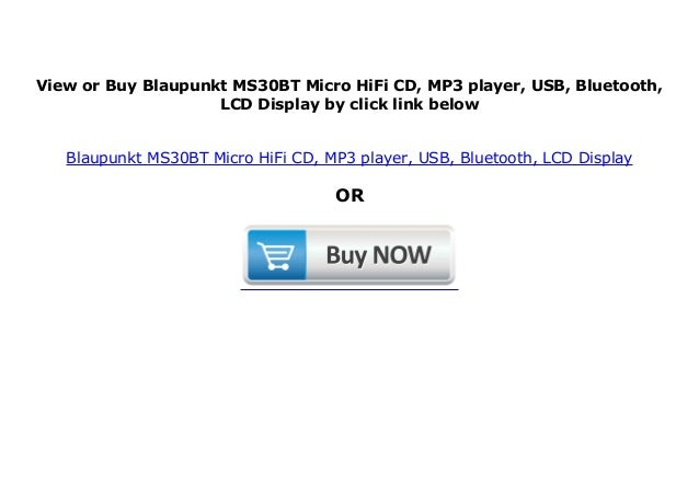 Blaupunkt MS30BT Micro HiFi CD, MP3 player, USB, Bluetooth