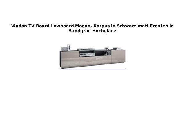 Vladon Tv Board Lowboard Mogan Korpus In Schwarz Matt Fronten In San