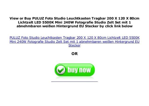 PULUZ Foto Studio Leuchtkasten Tragbar 200 X 120 X 80cm Lichtzelt LED 5500K Mini 240W Fotografie Studio Zelt-Set mit 1 abnehmbaren wei/ßen Hintergrund EU-Stecker