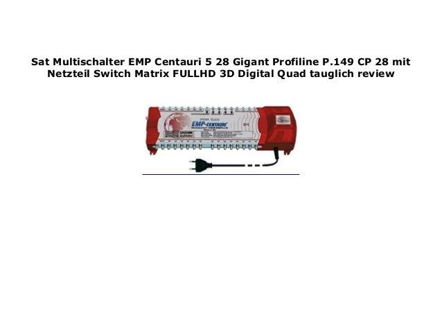 149-CP 28 ProfiLine Multischalter 5//28 P