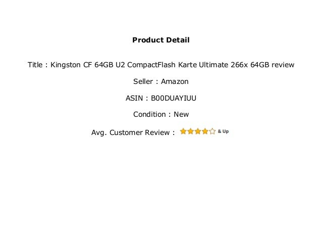 Compact Flash Karte.Kingston Cf 64gb U2 Compactflash Karte Ultimate 266x 64gb Review