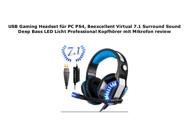Usb Gaming Headset F R Pc Ps4 Beexcellent Virtual 7 1 Surround Sound