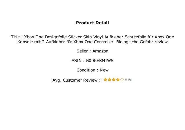 Xbox One Designfolie Sticker Skin Vinyl Aufkleber