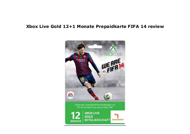 Prepaid Karte Ps4.Xbox Live Gold 12 1 Monate Prepaidkarte Fifa 14 Review