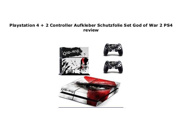 Playstation 4 2 Controller Aufkleber Schutzfolie Set God