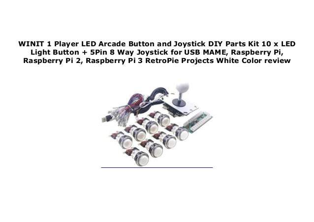 WINIT 1 Player LED Arcade Button and Joystick DIY Parts Kit