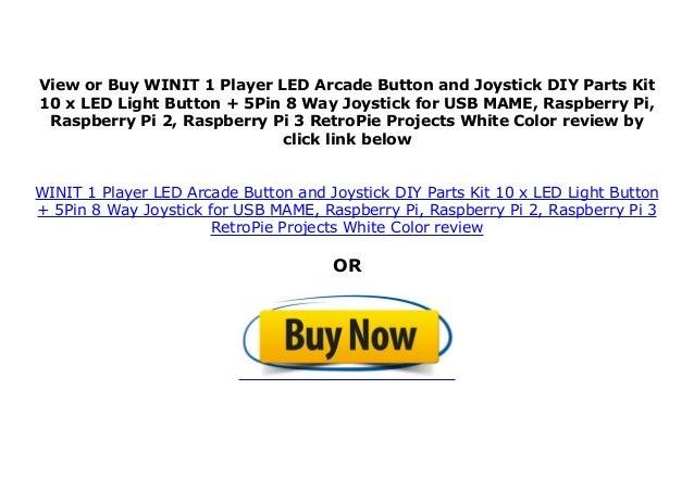 WINIT 1 Player LED Arcade Button and Joystick DIY Parts Kit 10 x LED …