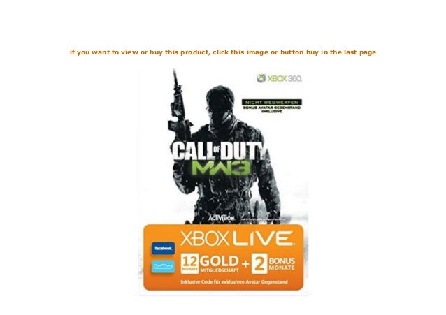 Xbox 360 Live Gold 12 2 Monate Im Design Von Call Of Duty Moder