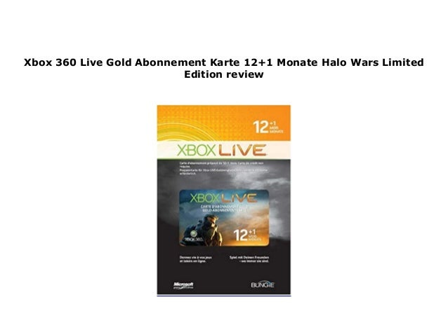 Xbox 360 Live Gold Abonnement Karte 12 1 Monate Halo Wars Limited