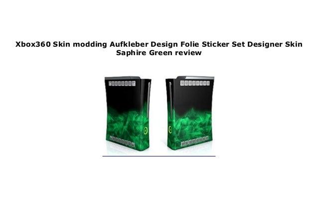 Xbox360 Skin Modding Aufkleber Design Folie Sticker Set