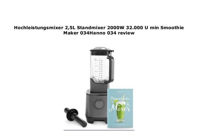 Hochleistungsmixer Smoothie Maker in schwarz Hochleistungs Standmixer 32.000 U