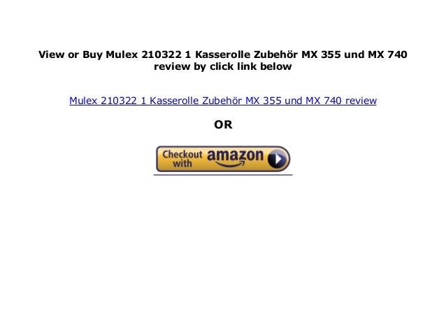Zubehör MX 355 und MX 740 Mulex Kasserolle