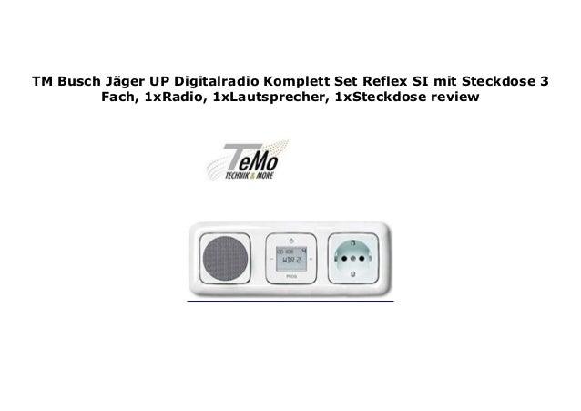 weiß Busch-Jaeger Komplett-Set 3-fach Steckdose
