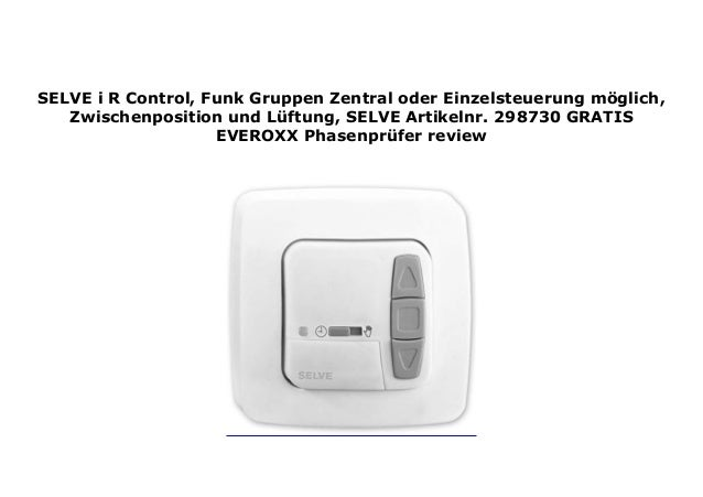oder Einzelsteuerung Funk-Gruppen-//Zentral i-R Control