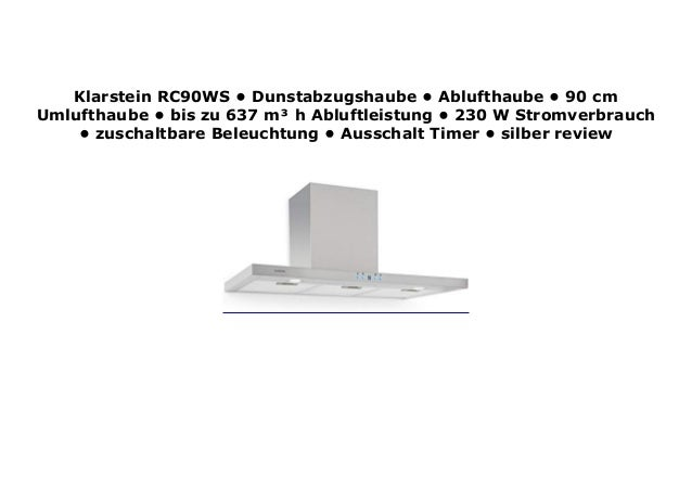 Klarstein Dunstabzugshaube 90 Cm 2021