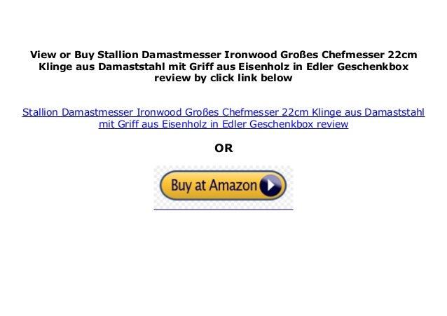 22cm Klinge Stallion Damastmesser Ironwood Großes Chefmesser