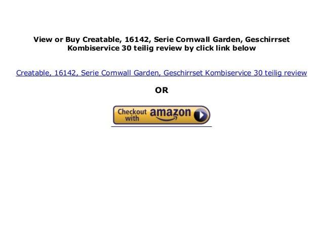 Geschirrset Kombiservice 30 teilig Creatable Serie Cornwall Garden 16142