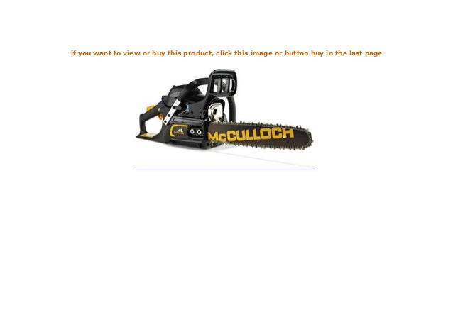 schwarzorange McCulloch 00096-76.247.14 CS 35S Benzin-Kettens/äge CS35S 1400 W