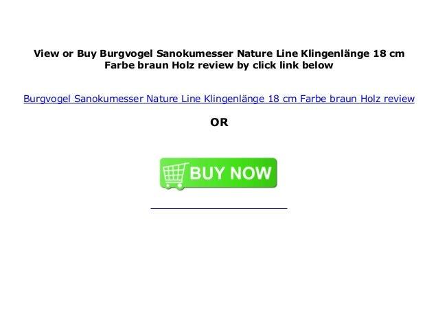 Nature Line Farbe:  braun//Holz Klingenl/änge: 18 cm Burgvogel Sanokumesser