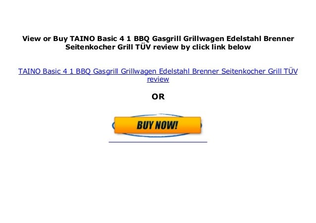 TAINO BASIC 6+1 Gasgrill BBQ GRILLWAGEN Edelstahl Brenner Seitenkocher TÜV Grill