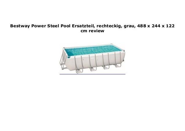Bestway Power Steel Pool Ersatzteil grau rechteckig 488 x 244 x 122 cm