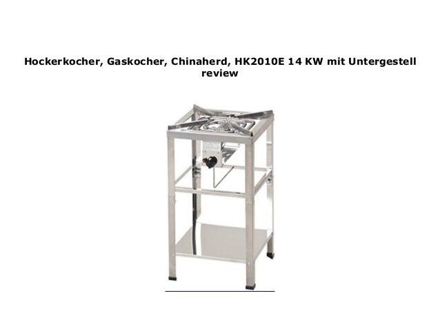 Chinaherd HK2012E 16 KW ! Hockerkocher Gaskocher