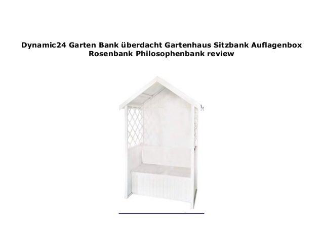 Dynamic24 Garten Bank Berdacht Gartenhaus Sitzbank Auflagenbox Rosen