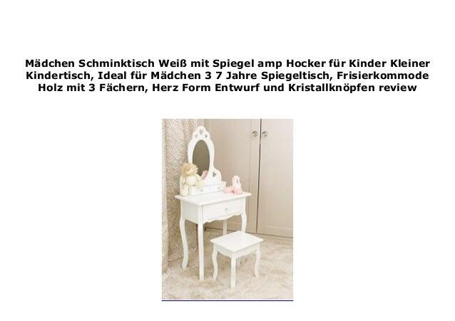 M Dchen Schminktisch Wei Mit Spiegel Amp Hocker F R Kinder Klein