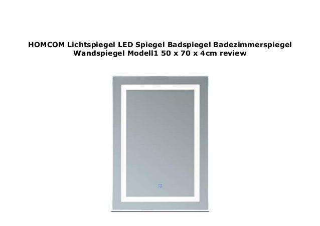 Homcom Lichtspiegel Led Spiegel Badspiegel Badezimmerspiegel Wandspie