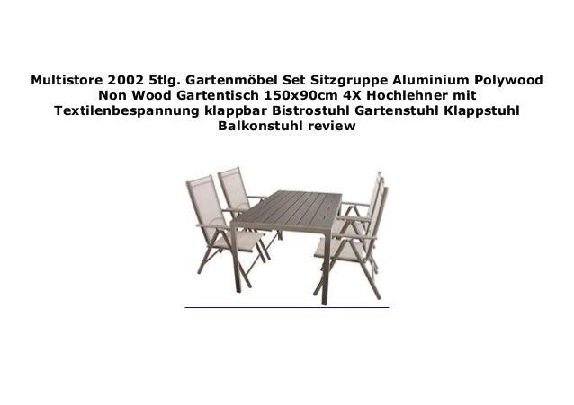 Multistore 2002 5tlg Gartenm Bel Set Sitzgruppe Aluminium