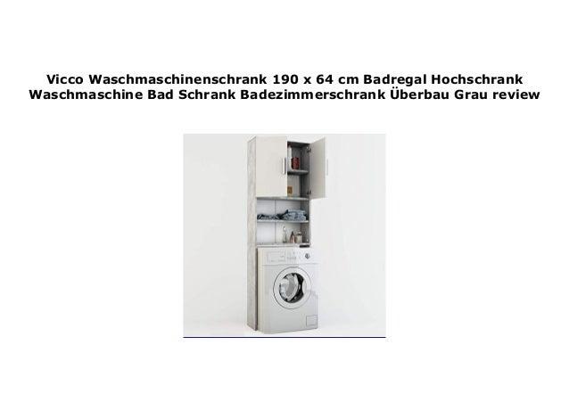 Vicco Waschmaschinenschrank 190 x 64 cm Badregal Hochschrank ...