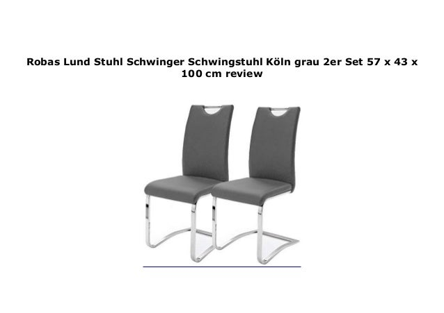 Set ln K Robas Stuhl Schwingstuhl 2er Lund Schwinger grau vN0mwyOPn8