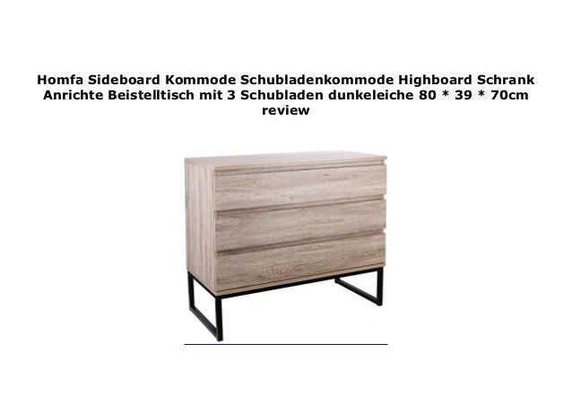 Homfa Sideboard Kommode Schubladenkommode Highboard Schrank Anrichte