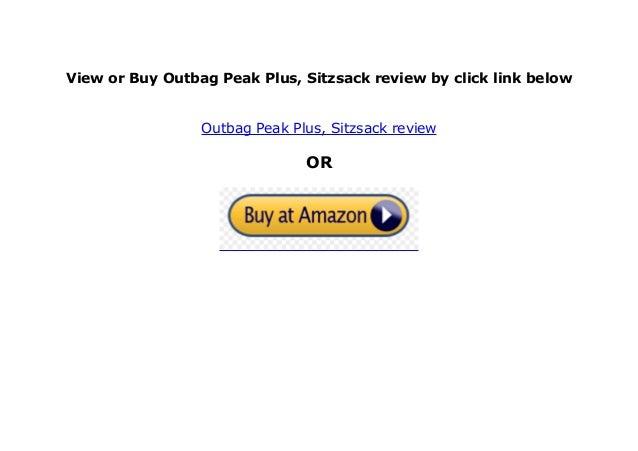 Outbag Peak Plus Sitzsack
