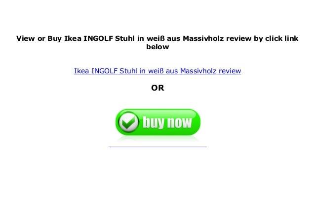 Ikea Ingolf Stuhl In Wei Aus Massivholz Review
