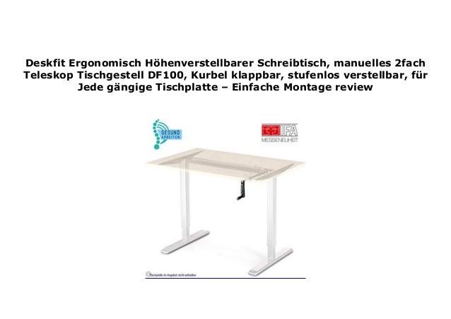 Buromobel Hohenverstellbarer Schreibtisch Df100 Manuelles 2fach Teleskop Tischgestell R2s Sonatel