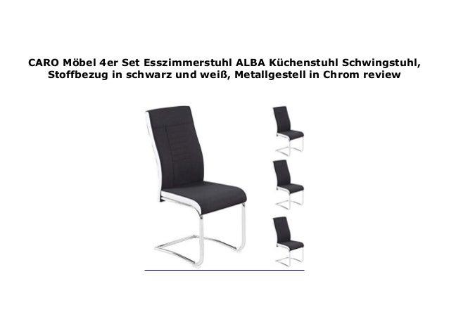 4er set esszimmerstuhl küchenstuhl schwingstuhl alba